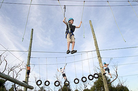 Outdoor Education High Ropes Challenge Course